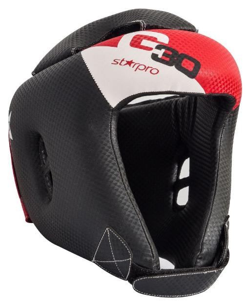 Hoofdbeschermer voor kinderen Starpro G30   rood-zwart-wit