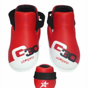 Voetbeschermers (safety kicks) Starpro G30 | rood-wit