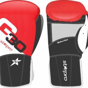 Bokszakhandschoenen Starpro G30 easy wear | rood-wit-zwart