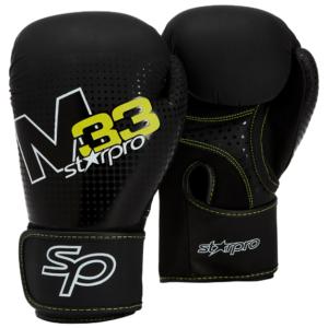 Bokshandschoenen voor trainingen Starpro M33 |zwart-wit-geel