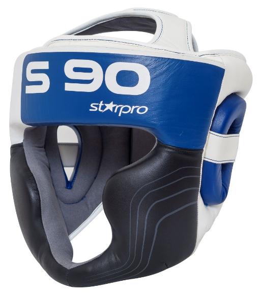 Hoofdbeschermer Super Pro Starpro S90 | zwart-wit-blauw