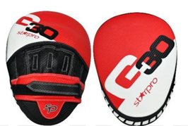 Focushandschoenen (focus mitts) Starpro G30 | zwart-wit-rood