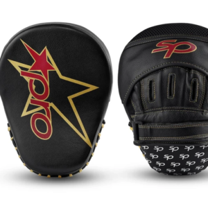 Focushandschoenen coach's mitt Starpro | zwart-goud PU-leer