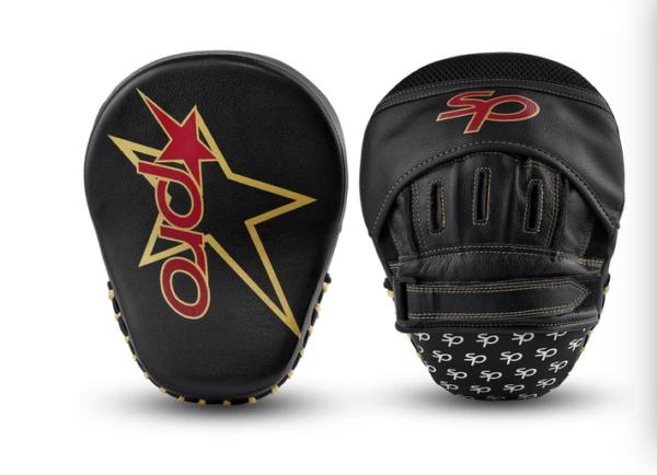 Focushandschoenen coach's mitt Starpro   zwart-goud PU-leer