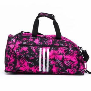 Adidas sporttas en rugzak  | zwart-roze camoprint
