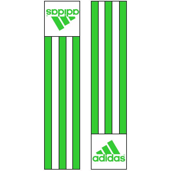 Adidas-schouderlabels voor je judopak | groen