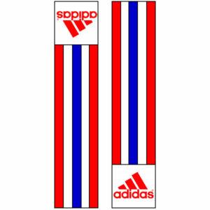 Adidas-schouderlabels voor je judopak | rood-wit-blauw