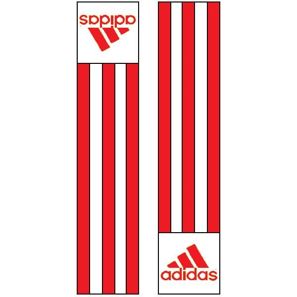 Adidas-schouderlabels voor je judopak | rood