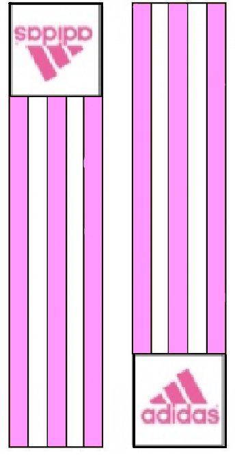 Adidas-schouderlabels voor judopak | roze