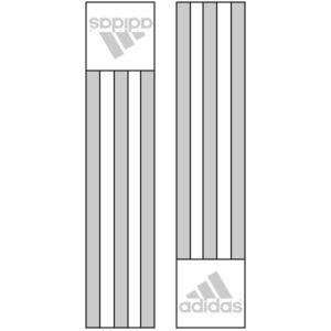 Adidas-schouderlabels voor je judopak | zilverkleur