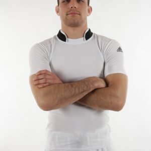 Rashguard Adidas: beschermshirt met kraag | wit-zwart