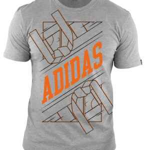 Adidas martial arts T-shirt | unisex model | grijs-oranje