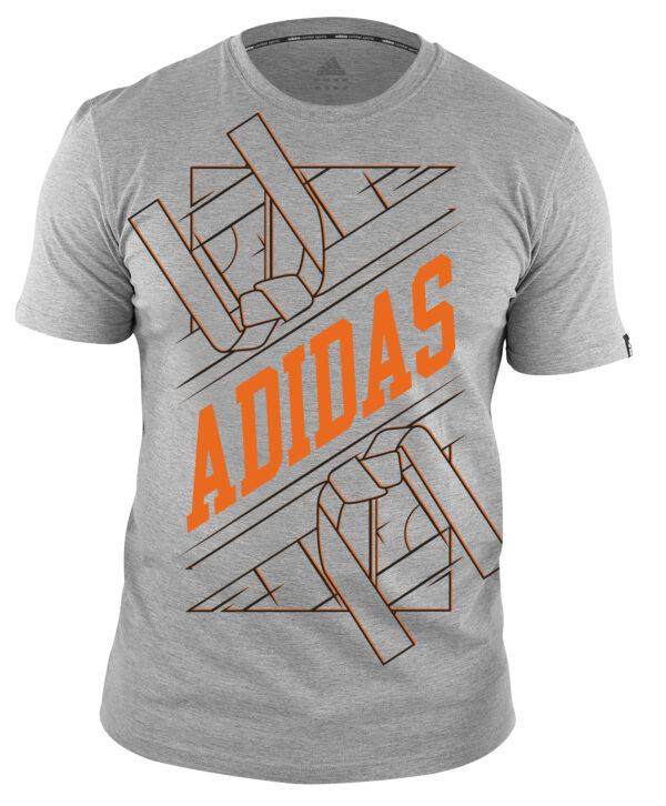 Adidas martial arts T-shirt | unisex model | grijs-oranje