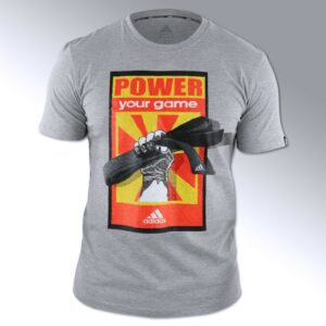 Adidas budo T-shirt 'Power your game' | grijs
