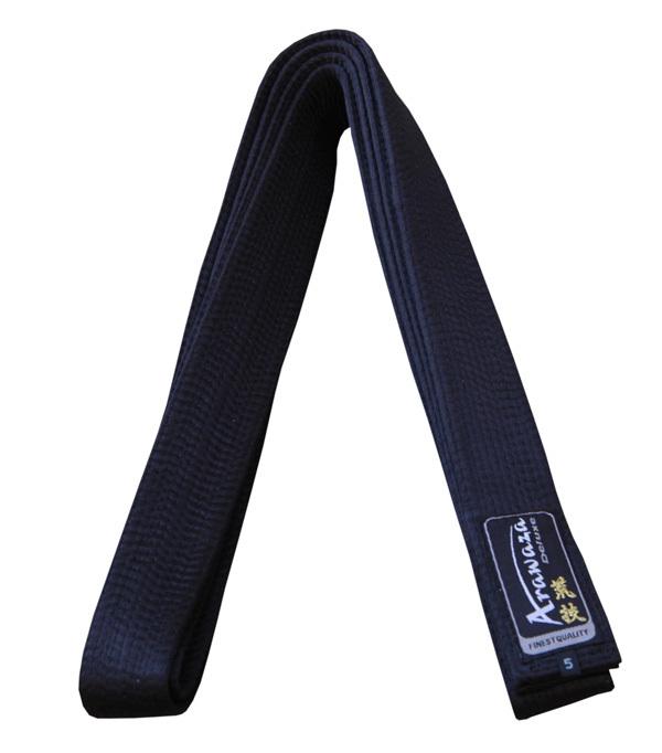Karateband deluxe Arawaza | zwart