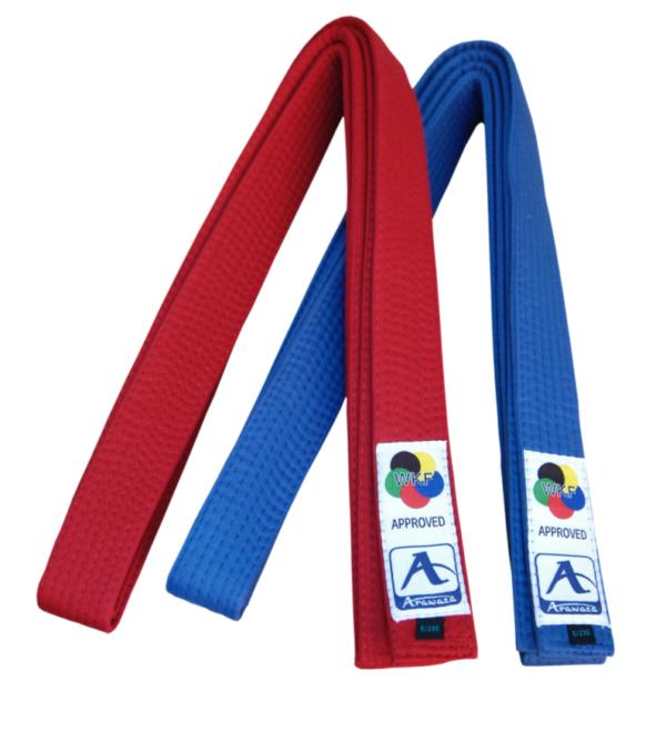 Karateband voor kumite (competitie) Arawaza | rood & blauw