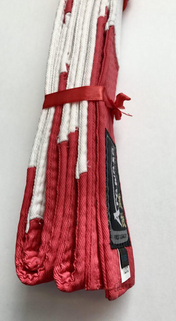 Karateband Master van Arawaza | rood-wit