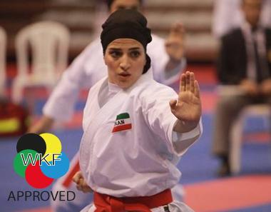 Karate-hijab (WKF-approved) Arawaza | zwart