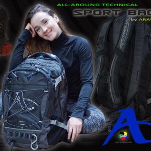 Multifunctionele rugzak  Arawaza  | zwart-grijs