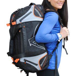 Multifunctionele sporttas & rugzak Arawaza | zwart-oranje