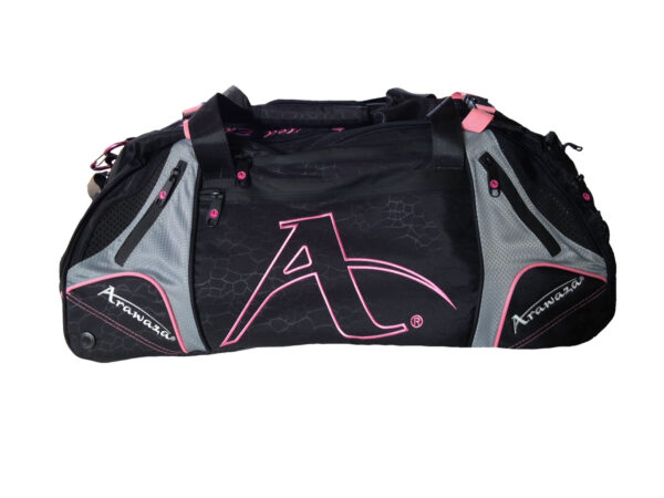 Multifunctionele sporttas & rugzak Arawaza | zwart-roze