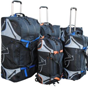 Multifunctionele sporttrolley Arawaza | zwart-blauw