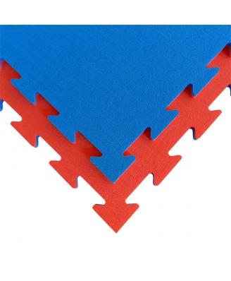 Speelmat of gymnastiekmat Tatamix | 1,4 cm | rood-blauw