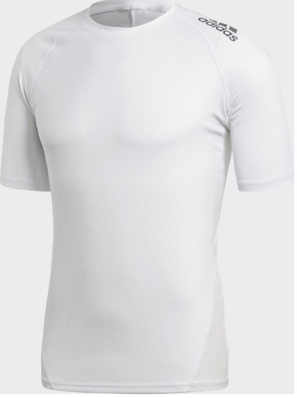 Adidas Alphaskin tee voor mannen | korte mouwen | wit