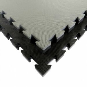Puzzelmat budo & MMA Tatamix | 4 cm | T-relief | grijs-zwart
