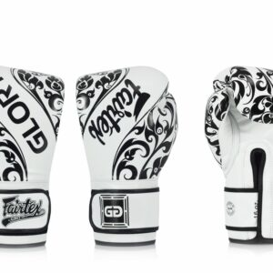 Fairtex bokshandschoen GLORY LIMITED EDITION wit zwart
