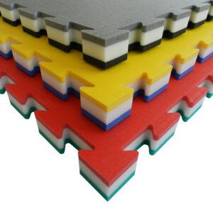 Puzzelmat voor judo Tatamix | 4 cm | zacht | blauw-wit-geel