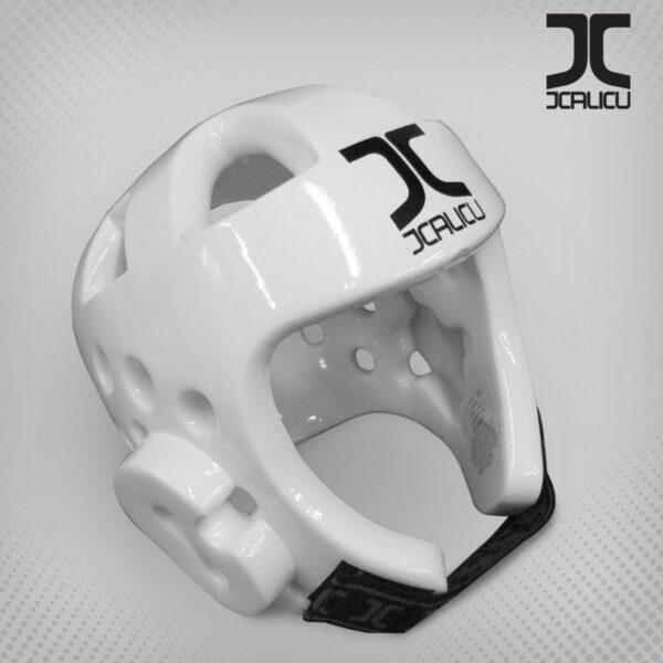 Taekwondo-hoofdbeschermer JCalicu | WT-goedgekeurd | wit