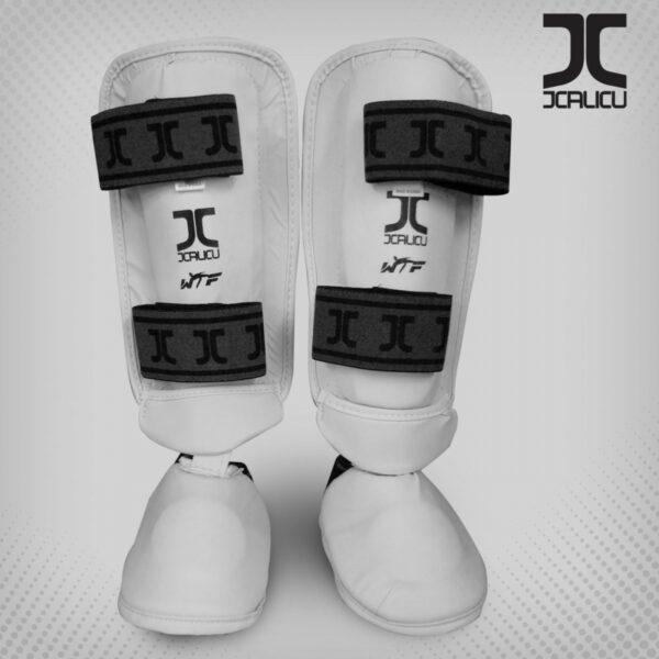 Taekwondo-scheen/wreef-beschermers JCalicu   WT   wit