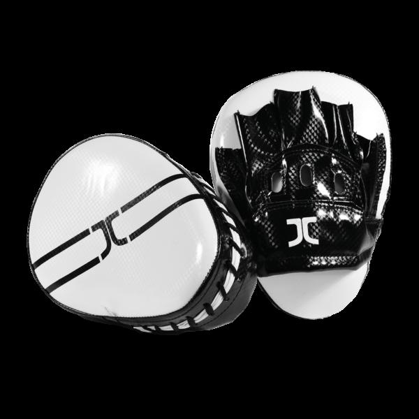 Taekwondo focus-handschoen (curved mitt) JC | zwart-wit