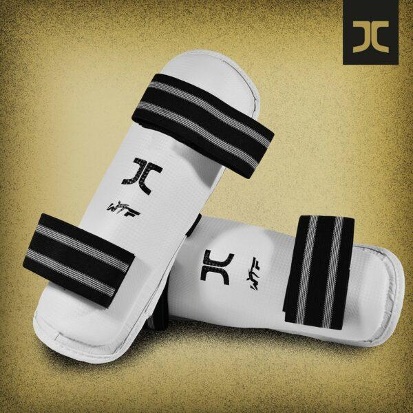 Taekwondo-scheenbeschermers JC-Club | WT | wit