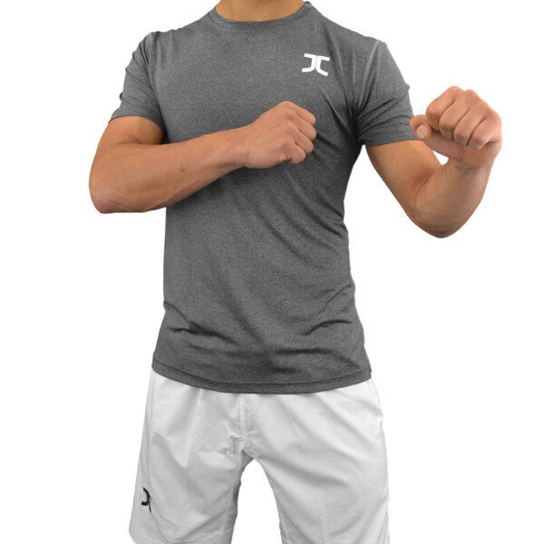 Zomer-taekwondopak (dobok) JCalicu | antracietgrijs-wit