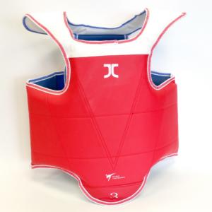 Taekwondo-borstbeschermer (omkeerbaar) JC-Quick fasten | WT