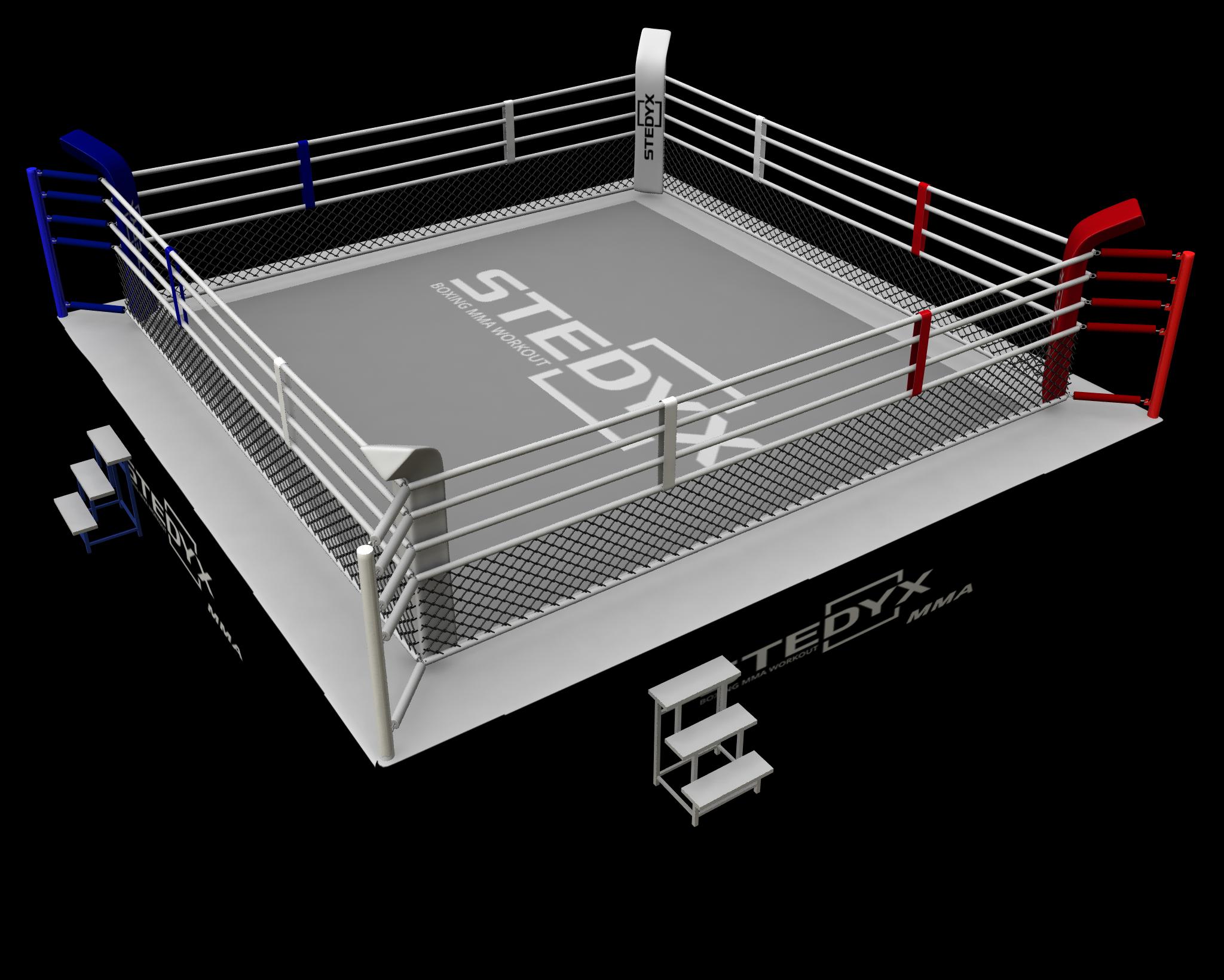 Wedstrijdring voor MMA Stedyx   7 x 7 meter
