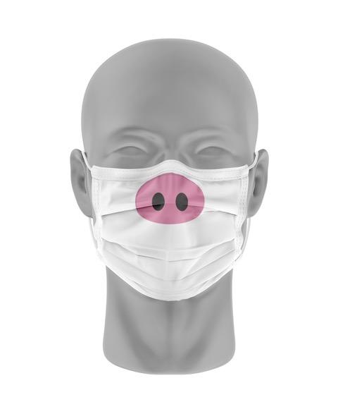 Mondmasker (herbruikbaar) Nihon   varkenssnuit-print