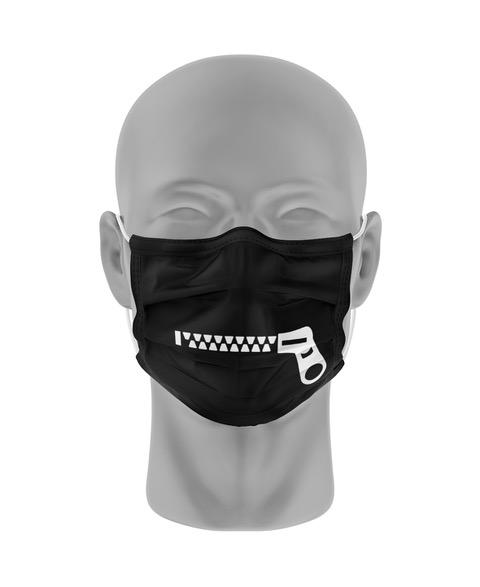 Mondmasker (herbruikbaar) Nihon | rits-print | zwart-wit