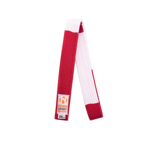 Rood-witte judoband voor 6e dan | rood uiteinde | maat 340