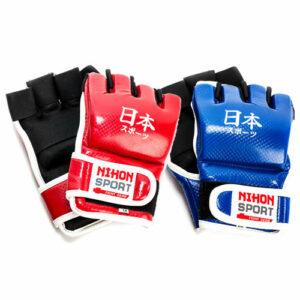 Jiu-jitsu-handschoenen (mitts) Nihon | rood of blauw