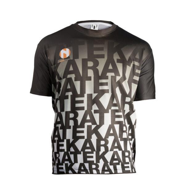 Sneldrogend sportshirt KARATE Nihon   zwart-grijs