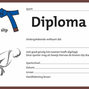 Diploma Blauw/Bruin
