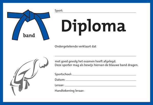 Diploma Blauw