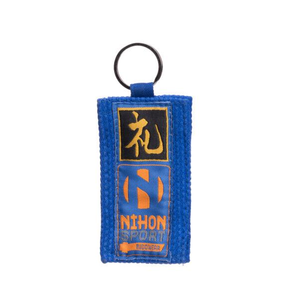 Sleutelhanger judostof Nihon | blauw