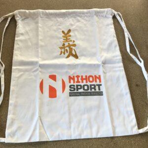 Rugzak Nihon Gi | wit met goudkleurige opdruk