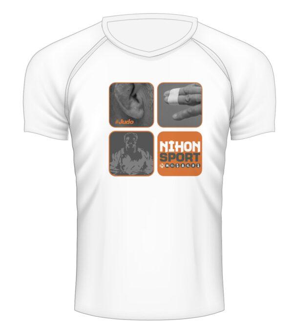 Sneldrogend sportshirt 'Dit is #judo' Nihon | wit