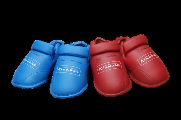 Voetbeschermers voor karate Arawaza | WKF | blauw & rood