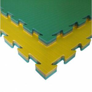 Karate- en taekwondopuzzelmat Tatamix | geel-groen | 2